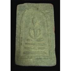 พระสมเด็จมงคลมหาลาภ แม่ชีบุญเรือน พิมพ์ใหญ่ หลังยันต์นะ เนื้อผงใบลาน ปี 2499